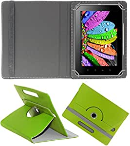 DressMyPhone Premium 360° Smart Leather Rotating Book Cover For Digiflip Pro Xt801 (Stand Cover Holder) - Green
