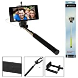 SumacLife Extendable AUX Cable Selfie Stick Monopod for Camera, iPhone and Smartphones iOS Andriod Cellphone (Multicolor)