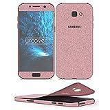 Urcover Samsung Galaxy A5 2017 Glitzer-Folie zum Aufkleben | Folie in Rosa | Zubehör Glitzerhülle Handyskin Diamond Funkeln Schutzfolie Handy-schutz Luxus Bling Glamourös