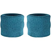 suddora Kinder Handgelenk Schweißbänder–Athletic Baumwolle Frottee Armbänder für Sport (Paar)