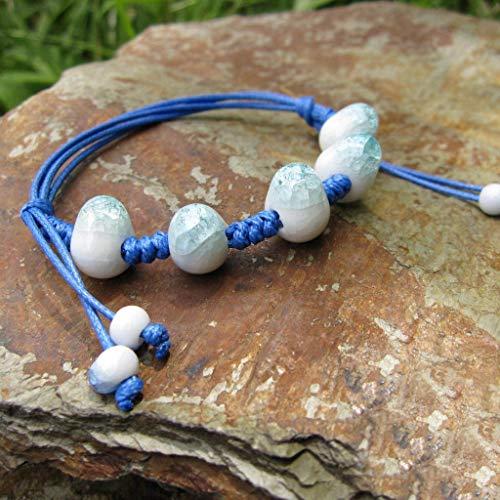 Gioielli Tessuti Tessuti Tessuti Donne Braccialetto Creativo Perline di ghiaccio azzurro crackfive
