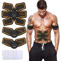 NAVANINO Electroestimulador Muscular Abdominales Masajeador Eléctrico para Cinturón, Abdomen/Brazo / Piernas/Cintura Entrenador Muscular, USB Recargable (Hombre/Mujer)