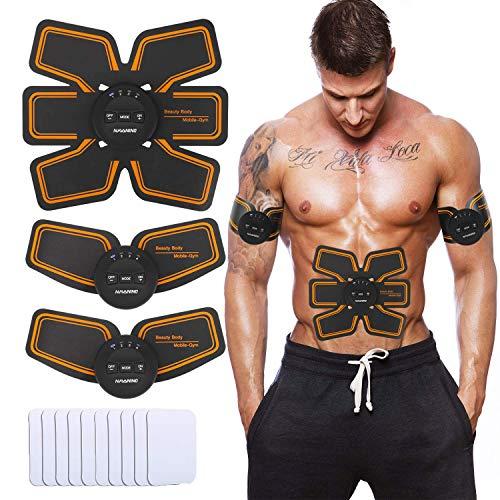 NAVANINO Electroestimulador Muscular Abdominales Masajeador Eléctrico para Cinturón, Abdomen/Brazo...
