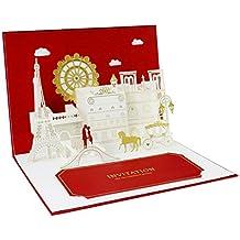 Suchergebnis Auf Amazon De Fur Hochzeitskarten Pop Up Postkarten