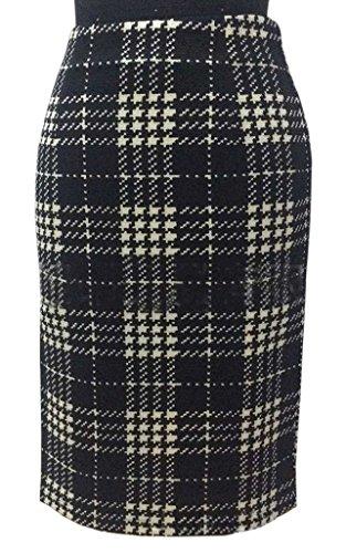 Eyekepper Jupe Femme /demoiselle Slim Sexy avec un melange de polyester et coton motif noir