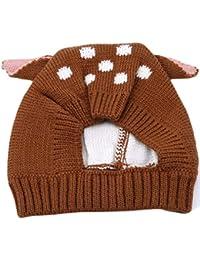 LnLyin Toddler Chaud Hiver Chapeaux Animal Oreille Dotted Babies Garçons  Filles Enfants Enfants Bonnet Tricoté, a5851a23935