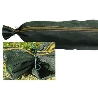 10 Silosäcke 25cm x 100cm mit Griff und Bindedraht Silosandsack Sandsack