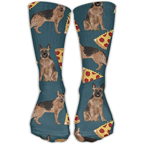 German Shepherd Pizza Crew Socks Compression Socks Warm Winter Socks One Size For Women(30cm)