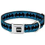 Buckle Down BMA Batman schwarz/Silber Hund Halsband