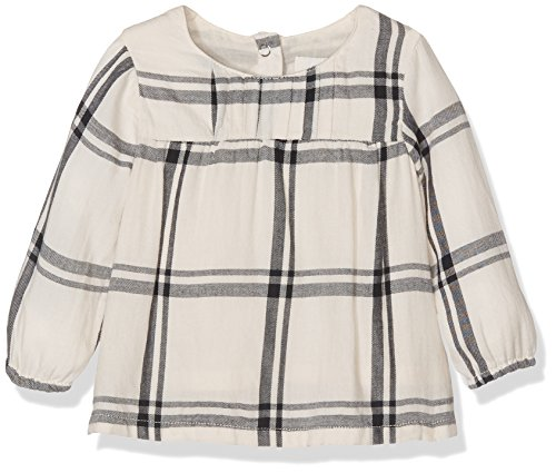 TOM TAILOR Kids Baby-Mädchen Bluse Checked Blouse with Pleats, Weiß (Original 1000), 62