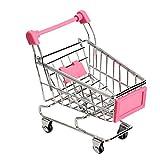 Alextry Mini-Bollerwagen für Einkaufswagen, Einkaufswagen, Stauraum Rose