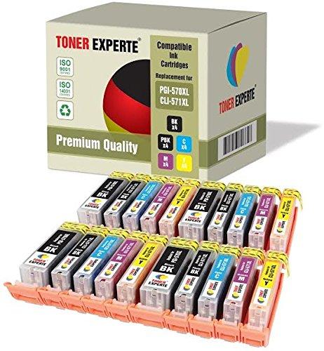 Preisvergleich Produktbild 20 XL TONER EXPERTE® PGI-570XL / CLI-571XL Druckerpatronen kompatibel für Canon Pixma MG5750, MG5751, MG5752, MG5753, MG6850, MG6851, MG6852, MG6853, MG7750, MG7751, MG7752, MG7753, TS5050, TS5051, TS5053, TS5055, TS6050, TS6051, TS6052, TS8050, TS8051, TS8052, TS8053, TS9050, TS9055