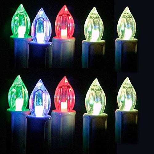 SAILUN RGB Velas sin llama LED con mando a distancia Dimmable tealights LED Velas de Navidad votivas parpadeo llama para el árbol de Navidad, decoración de Navidad, bodas, cumpleaños, fiesta, noches acogedoras 30 piezas