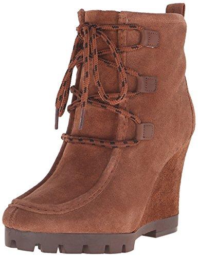 Nine West Abrazzo Suede Boot Dark Brown/Dark Natural