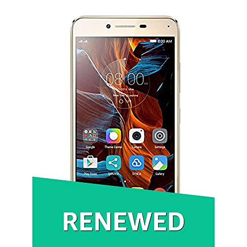 Renewed  Lenovo Vibe K5 Plus  Gold  Smartphones