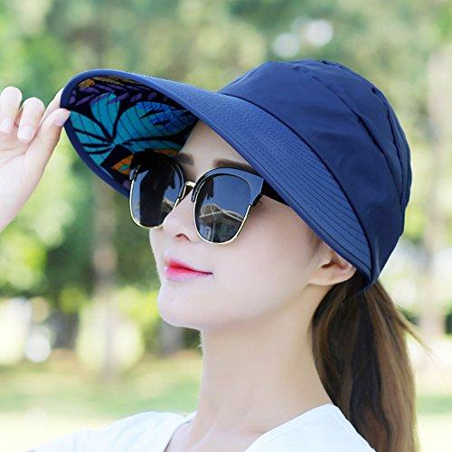 Lgk & fa estate sandali da donna per il tempo libero estivo Cappello all-match Marea UV coreano primavera estate pieghevole parasole Cap, A watermelon red A navy blue