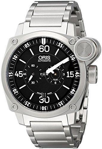 Oris Hombre 74976324194MB analógica pantalla automático viento reloj, color negro y plata
