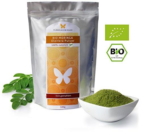 1kg Bio-Moringa-Oleifera-Blatt-Pulver DE-ÖKO-012 aus jungen Blättern, ohne Zusätze, Rohkostqualität, schonende Verarbeitung bei niedrigen Temperaturen (1000g)