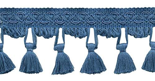 Decopro 5.5meter value pack–64mm blu francese della frangia trim basic trim collection style # tfemp3(21910)  colore: m45(5,5m/5.5meters)