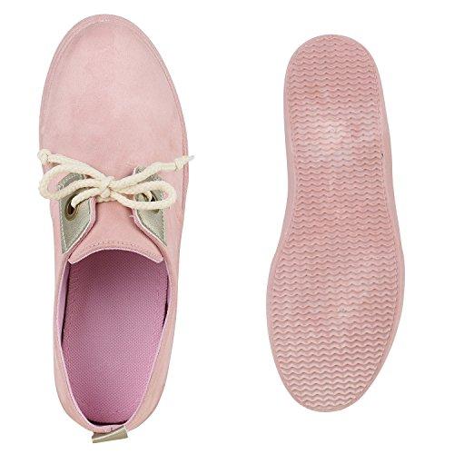 Rosa Damen Freizeit Sportschuhe Sneakers Schnürer Metallic Schuhe qqzrYOp