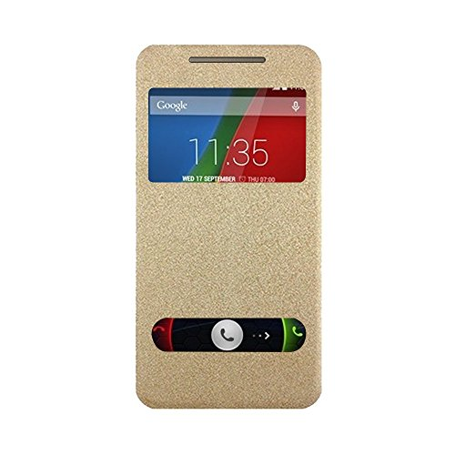 Karpine Flip Cover For Motorola Moto G, 4th Gen / Moto G Plus, 4th Gen - Gold