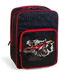 mochila escolar doble HOT WHEELS