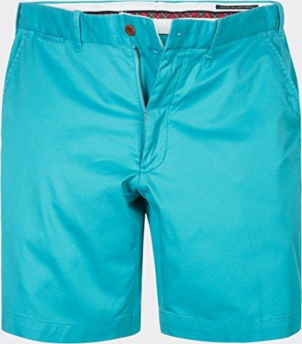 Ralph Lauren Golf Herren Bermuda-Shorts Baumwolle & Mix Kurze Hose Unifarben, Größe: 34, Farbe: Blau (Stretch Lauren Hosen Ralph)