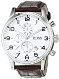 HUGO BOSS Men's Chronograph Quartz Watch with Leather Strap – 1512447