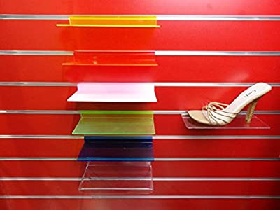 10x New Slatwall Slatboard Display Shelf/ Shelves Multiple Size And Packs: Shoe, Bags