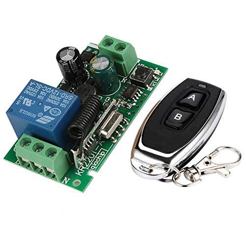 YLX Universal 433 MHz AC 110V 220V Kanal Fernsteuerungsschalter Mini Wireless Relais Empfängermodul und Fernsteuerungsschalter für 433 MHz RF Transmitter Garage (1+1) 11 Relais