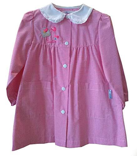 Siggi grembiule 33gr3052 scuola scuola materna bambina bianco/rosa 2-3-4-5-6 anni (65 6 anni)