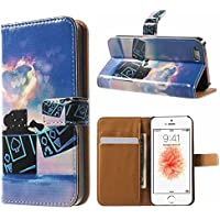 iPhone 6 Plus/6S Plus Hülle Hülle mit Panzerglas, MISSDU Schutzhülle mit Wallet Case Stylus Stift, Leichter
