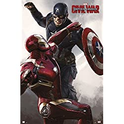 Grupo Erik Editores Poster Capitan America Civil War Cap Vs Iron Man