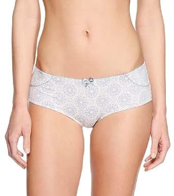 s.Oliver Damen Panties 27.401.97.6790, Einfarbig, Gr. 44, Mehrfarbig (Chrystal White AOP)
