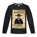 Zorro Les Chroniques Avis De Recherche Wanted T-shirt manches longues Premium Enfant de Spreadshirt®, 134/140 (8 ans), noir...