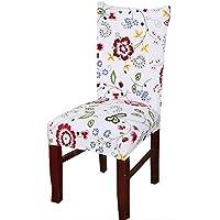 Protector de asiento SindeRay, elástico extraíble, lavable, funda protectora corta para silla de comedor