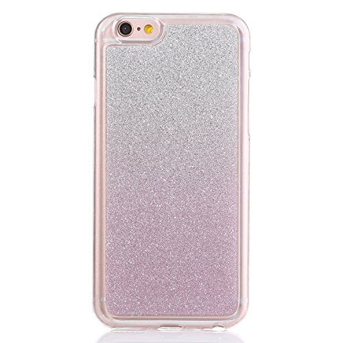 SainCat Coque Housse Apple iPhone 6,Transparent Coque Silicone Etui Housse,iPhone 6s Silicone Case Soft Gel Cover Anti-Scratch Transparent Case TPU Cover,Fonction Support Protection Complète Magnétiqu Violet