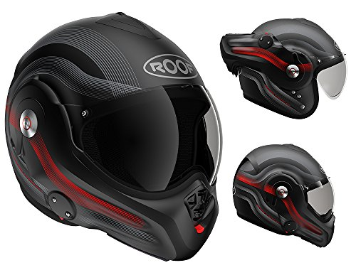 Roof Casque Desmo, DE Rationnaliser Rouge, taille SM