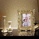 Giftgarden Bilderrahmen 10x15cm Barock golden viereckig golden Geschenke Freunde - 6
