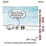 Schütze Mini 2018: Sternzeichenkalender-Cartoon - Minikalender im praktischen quadratischen Format 10 x 10 cm.