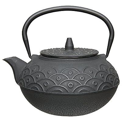 Berghoff en fonte de style japonais Infuseur Théière, grande 1.4L, Noir