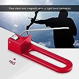 Tbest Arrow Rest Arco de Aluminio Profesional Arco recurvo Flecha magnética Resto para la Mano Derecha (Rojo)