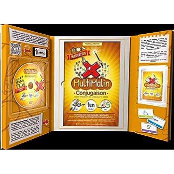 Coffret Multimalin conjugaison du présent (contient 1 livret, 1 DVD et 1 jeu de cartes)