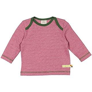 loud + proud Unisex Baby T-Shirt Ringel, Violett (Berry/Natural Ber/NA), 80 (Herstellergröße: 74/80)
