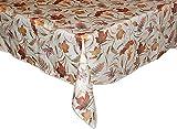 Klassische Tischdecke 130x170 cm Eckig Tischtuch Tafeltuch Pflegeleicht Bügelfrei preiswert Creme BLäTTER Farbig Deko Herbst (Tischdecke 130x170 cm)