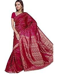 Trendofindia Fertig gewickelter Bollywood Sari Indien Bordeaux Gr. S