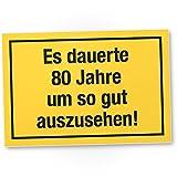DankeDir! 80 Jahre - Gutes Aussehen, Kunststoff Schild - Geschenk 80. Geburtstag, Geschenkidee Geburtstagsgeschenk Achtzigsten, Geburtstagsdeko/Partydeko / Party Zubehör/Geburtstagskarte