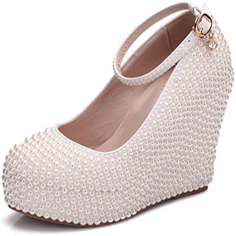 MINITOO , Plateforme Heel,B0755G977MParent Femme - Blanc cassé - Ivory-10cm Heel,B0755G977MParent Plateforme f7d568