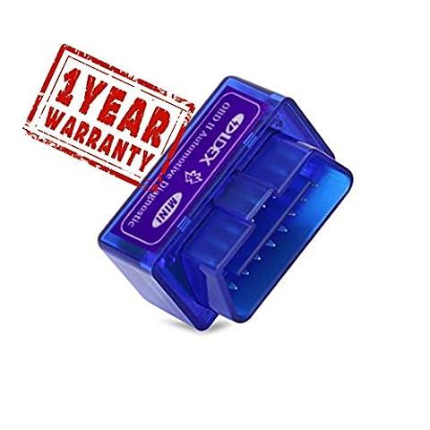 Ldex OBD2 Diagnostic Scanner Bluetooth 2.0 Scanner pour Voiture Numérisation