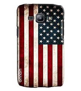 Omnam Us Flag Printed Designer Back Cover Case For Samsung Galaxy J1